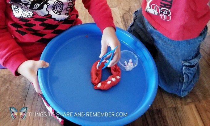 Preschool Dental Health Activities Experience Preschool Pulling Teeth - rocks and play dough