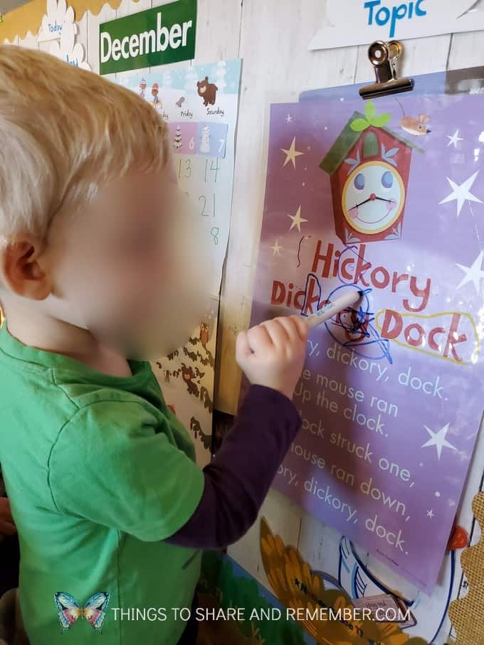 Hickory Dickory Dock Nursery Rhyme Shared Reading Experience Early Learning Preschool curriculum
