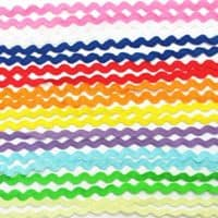 Dandan DIY 50yards Multi-Colors Colorful 5mm Wave Bending Fringe Trim Ribbon for Clothes Dress Sewing Flower Making Home Party Wedding Decoration Lace Ribbon Craft Supply