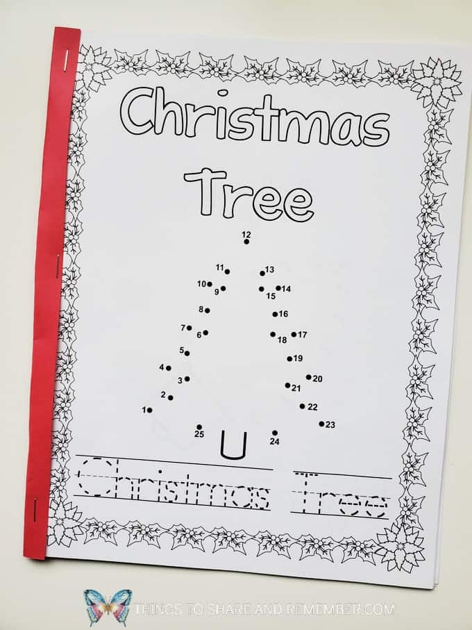 Christmas tree connect the dots page