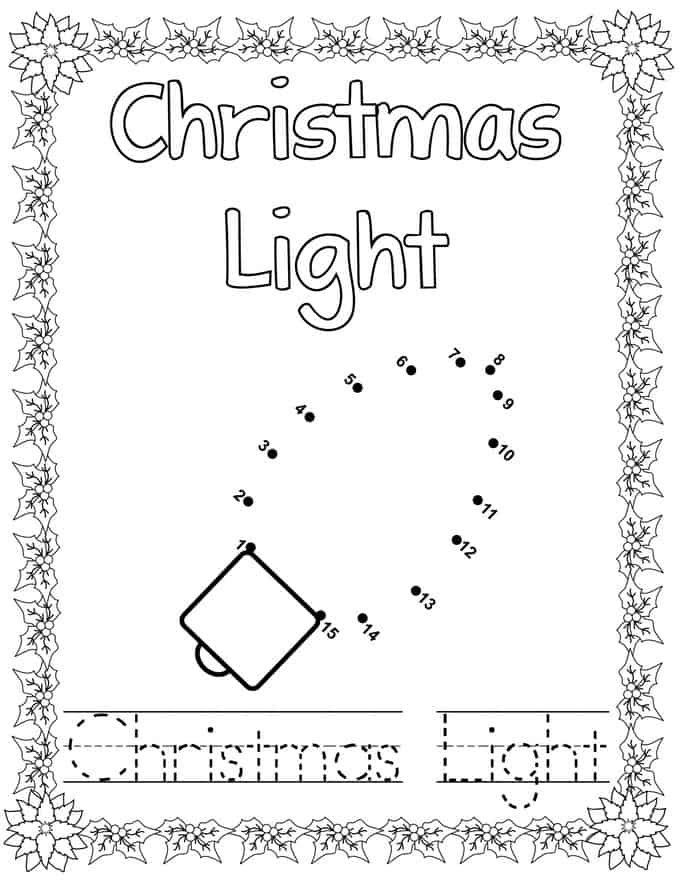 Christmas Connect Dots Coloring Book -Christmas light