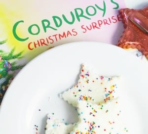 Corduroy's Christmas Surprise Story & Sensory Activity for Preschoolers - book and sensory