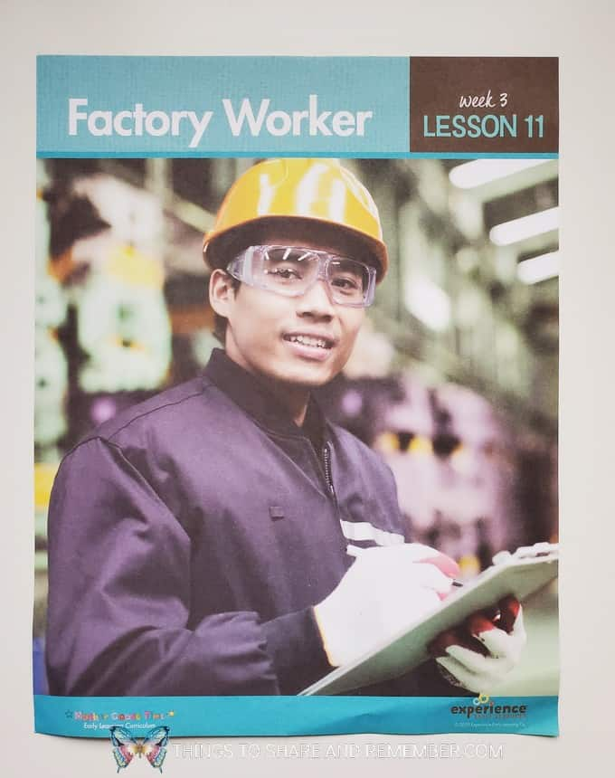 Factory Worker Daily Topic Poster