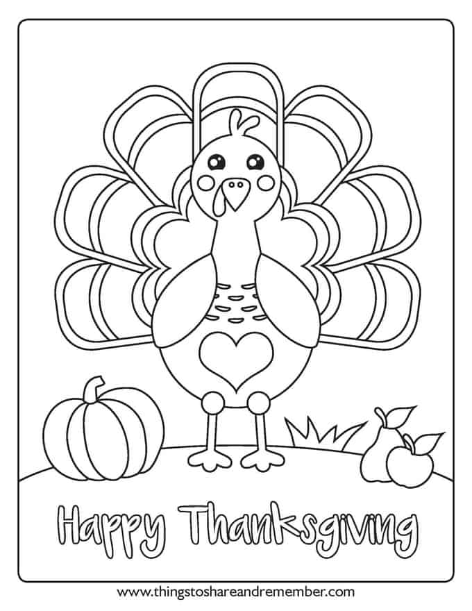 I Am Thankful Preschool Turkey Page