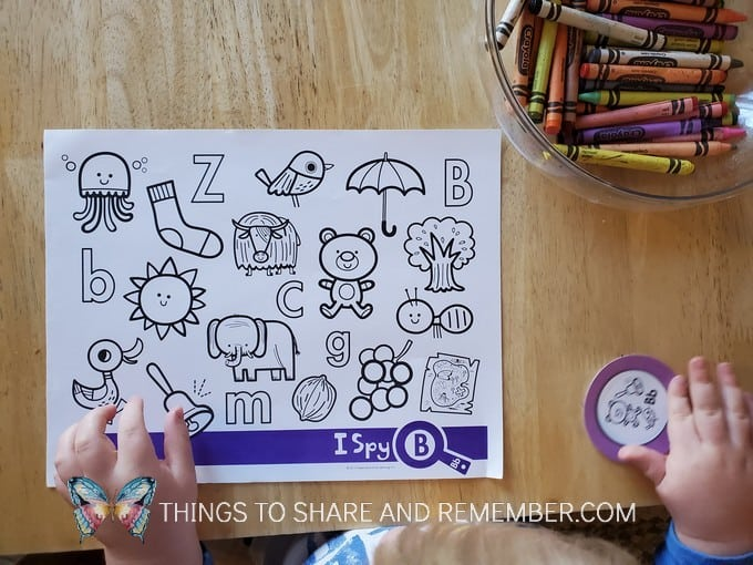 I Spy Letter B page from Experience Early Learning