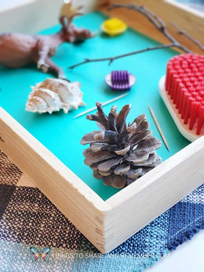 Pokey like a Hedgehog sensory tray