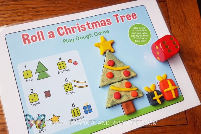 Play Dough Mat Game free printable game for kids