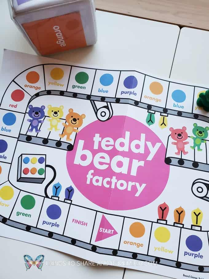 Teddy Bear Factory Game from Experience Early Learning