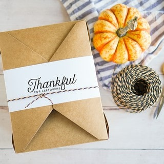 Thanksgiving Leftovers Box Printable Label