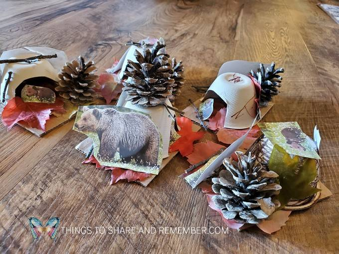Bear den preschool crafts