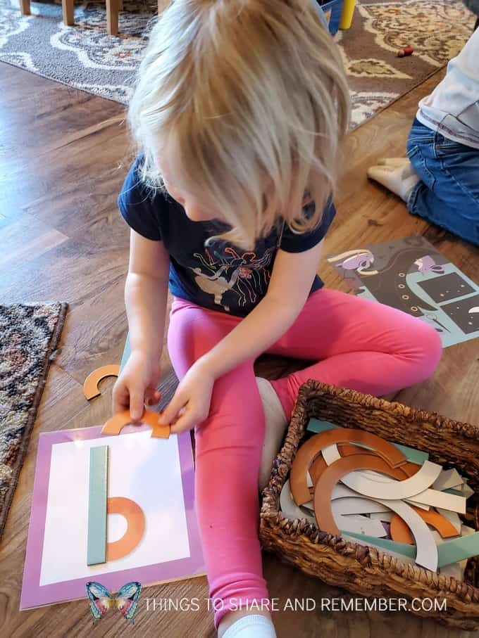Loose Letter Parts from Experience Early Learning Preschool curriculum