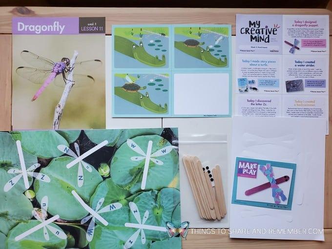preschool dragonfly lesson pond life theme