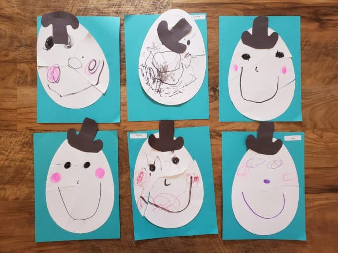 Humpty Dumpty Preschool Activities art puzzles