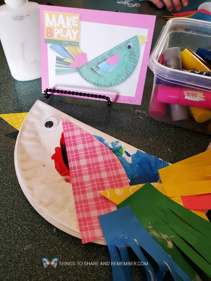 paper plate birds Make & Play Bird Tails