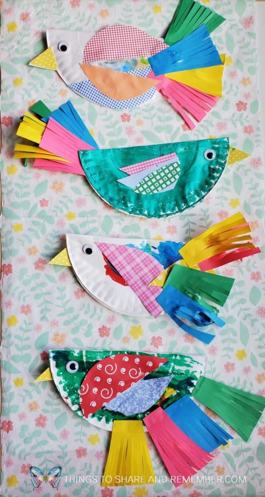 Paper Plate Birds from Experience Preschool curriculum Birds & Eggs Theme