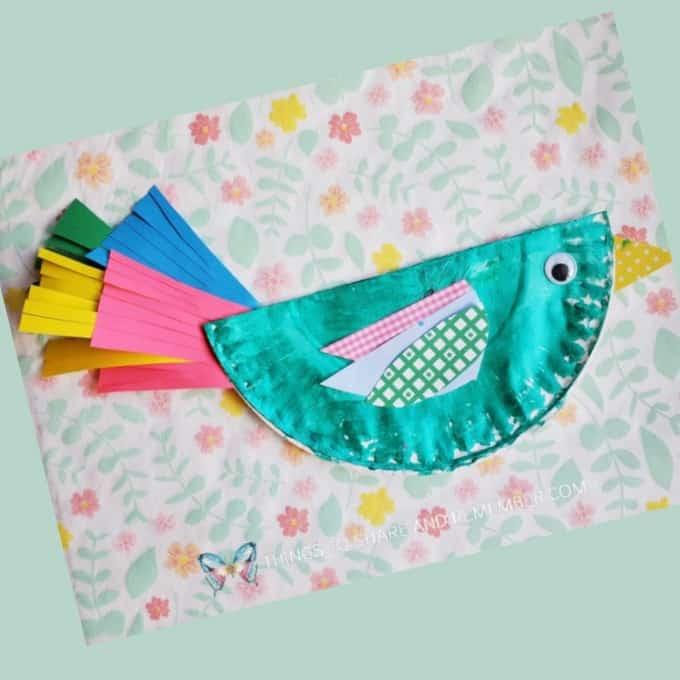 Paper Plate Birds from Experience Preschool curriculum Birds & Eggs Theme