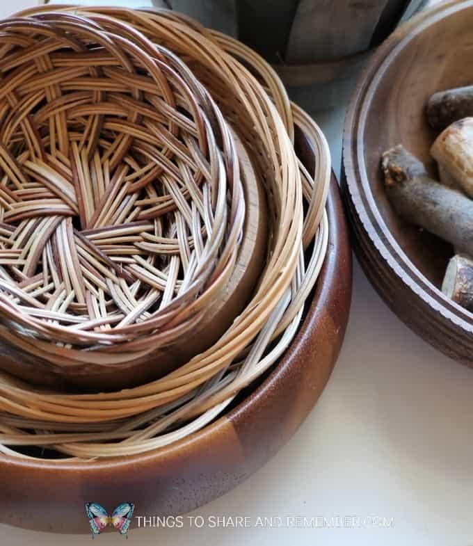 baskets for making bird nests in preschool