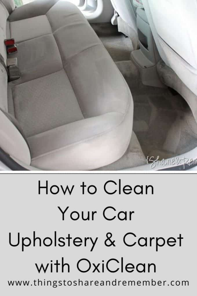 How to Clean Your Car with OxiClean versatile stain remover
