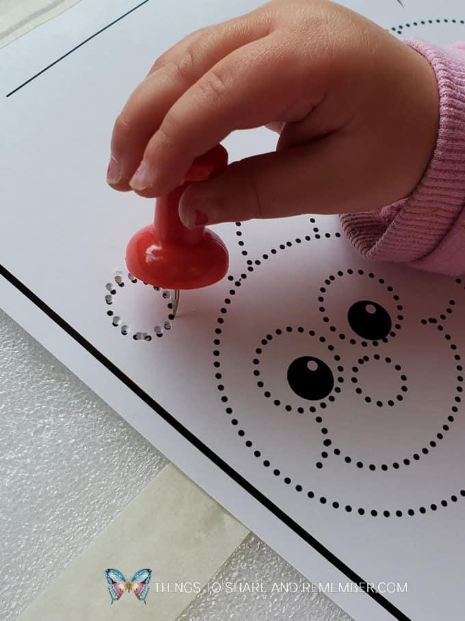 ladybug push pin art
