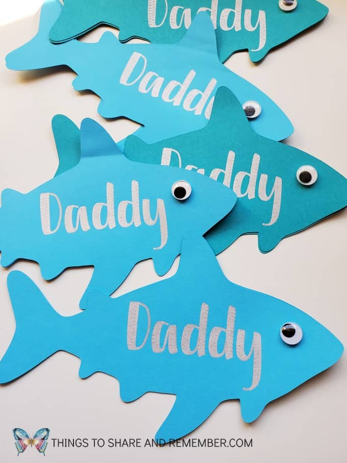 Daddy Shark Father's Day Card Cricut Project