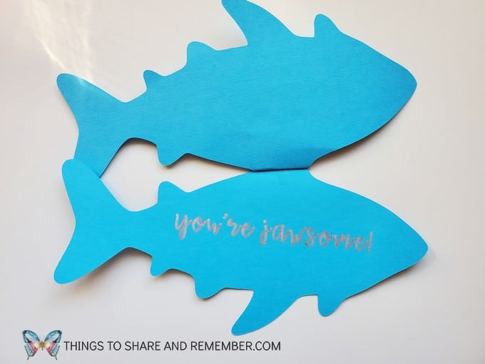 Jawsome Father's Day Shark Card Daddy Shark Father's Day Card Cricut Project
