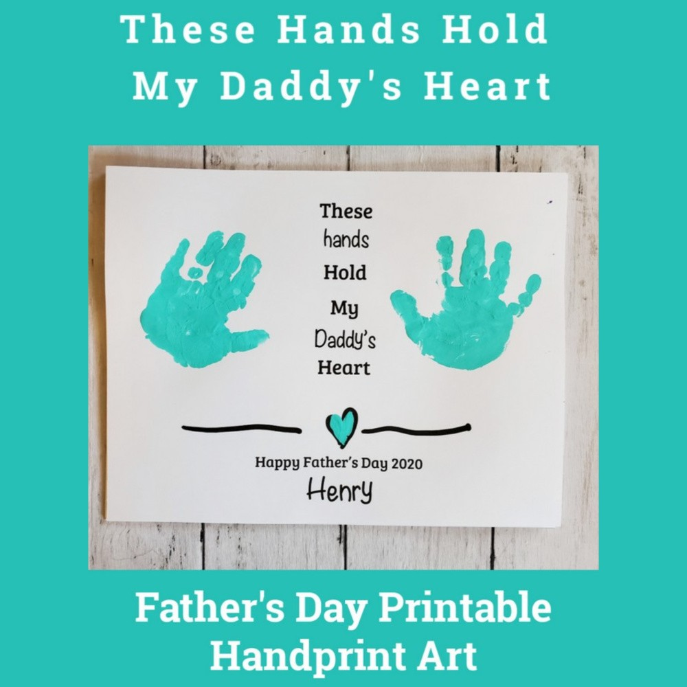 These Hands Handprint Father's Day Printable
