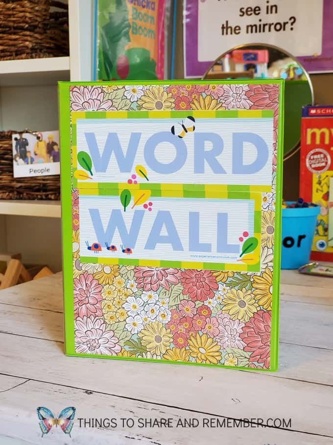 Word Wall Small Binder for Alphabet and Word Cards