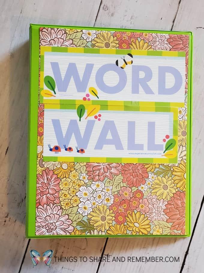 Word Wall Binder