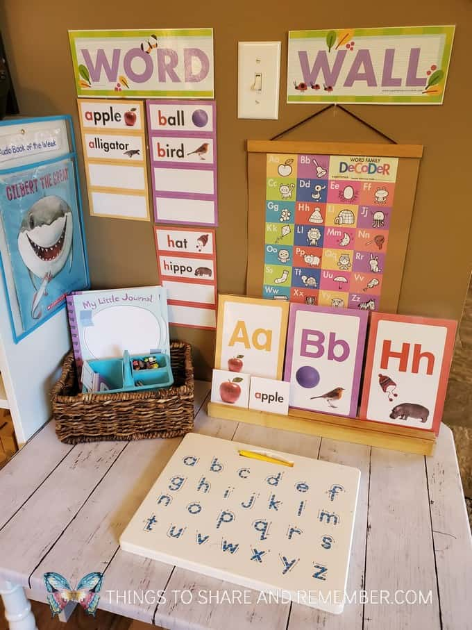 Word Wall to Binder alphabet and word cards from Experience Curriculum