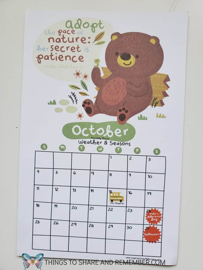 adopt the pace of nature: her secret is patience calendar