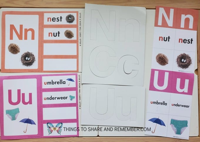 Letter and Word Wall Cards