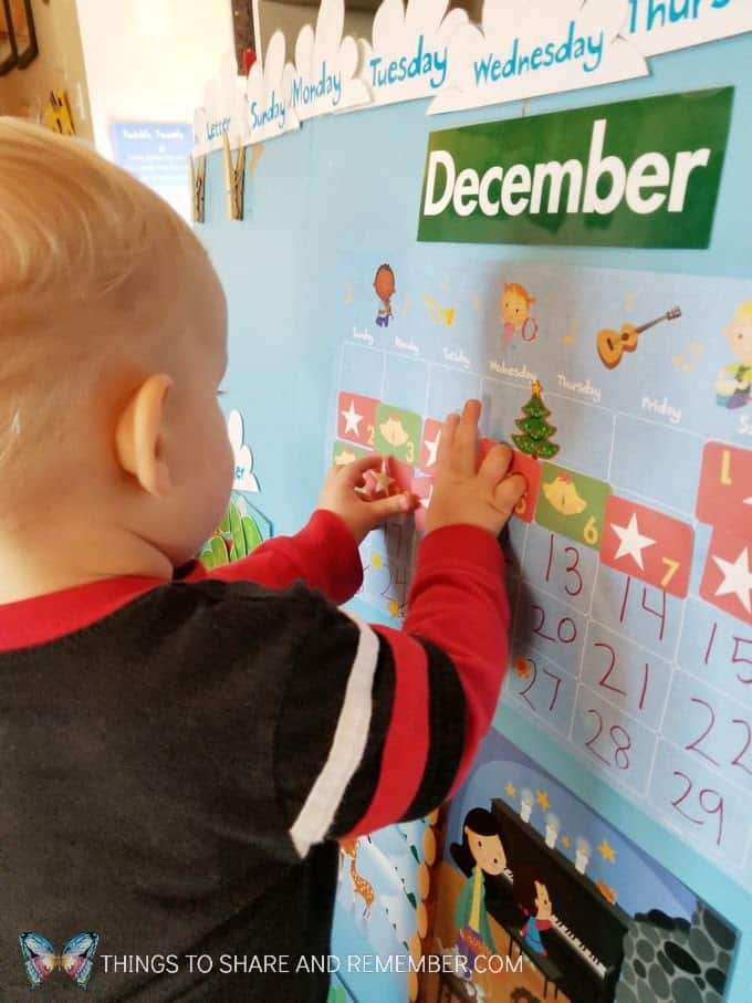 putting up numbers on the calendar Meaningful Calendars for Preschoolers