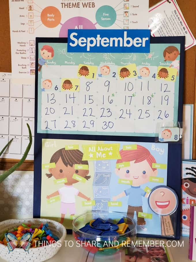preschool calendar display for Meaningful Calendars for Preschoolers