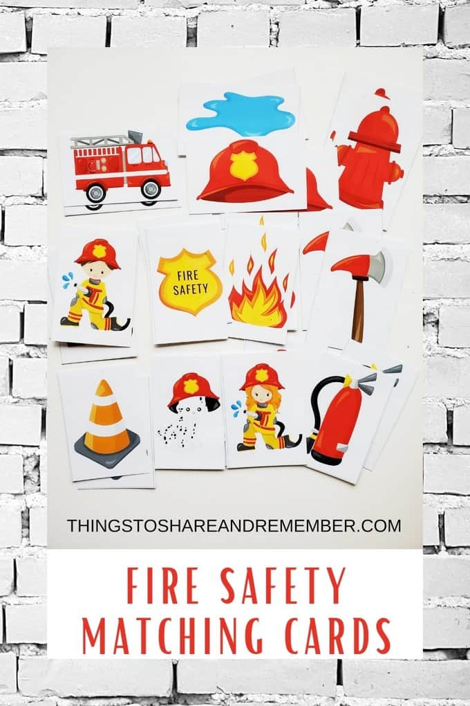 FIRE SAFETY MATCHING CARDS