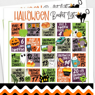 Halloween Bucket List Printable featured
