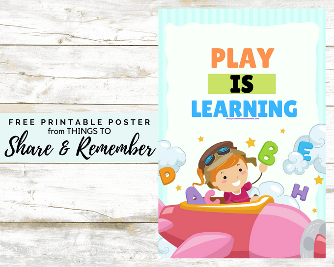 PLAY IS LEARNING free printable poste