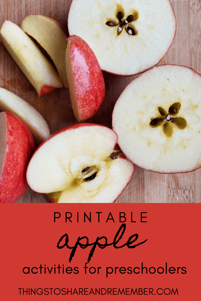 Printable Apple Activities for preschoolers