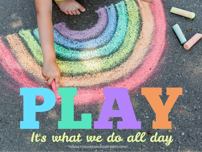 PLAY it's what we do all day free printable poster from Things to Share and Remember.com