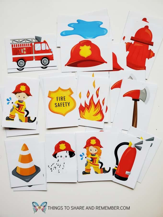 Fire Safety Matching or Memory Cards Free printable Activity