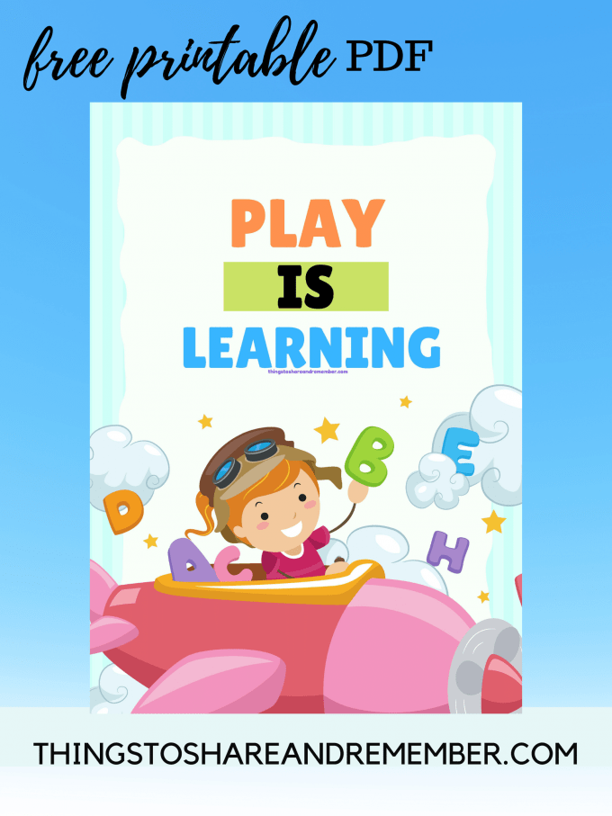 FREE PRINTABLE PLAY IS LEARNING