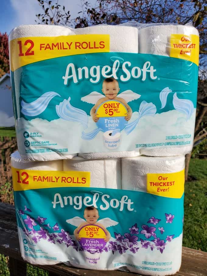 Fresh Scents with Angel Soft® Scented Tube toilet paper available in Fresh Lavender or Fresh Linens