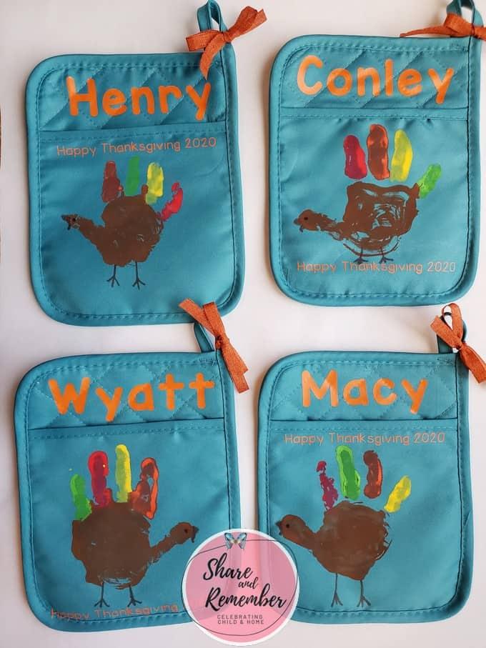 Turkey Handprint Potholder