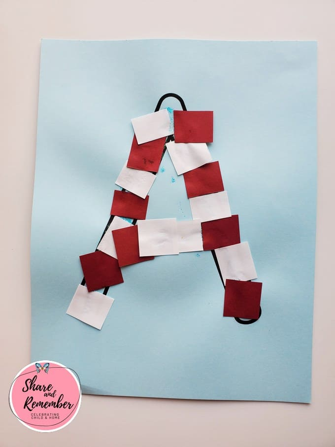 Letter A candy cane project