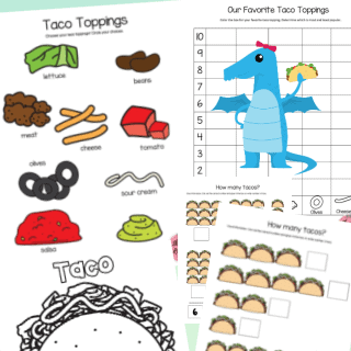 Dragons Love Tacos free printable pages