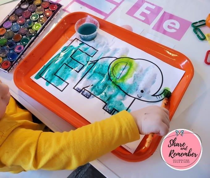 Dinosaur Eggs Preschool Activities - E is for egg