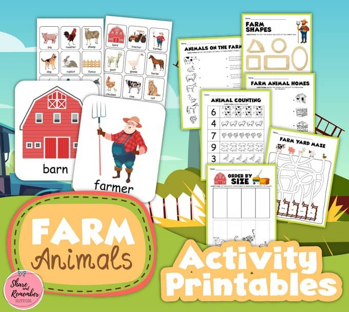 Farm Animals Printable Activities