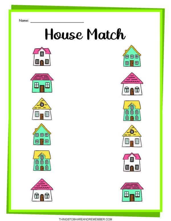 Parts Of The House Activity Printables » Share & Remember Celebrating  Child & Home