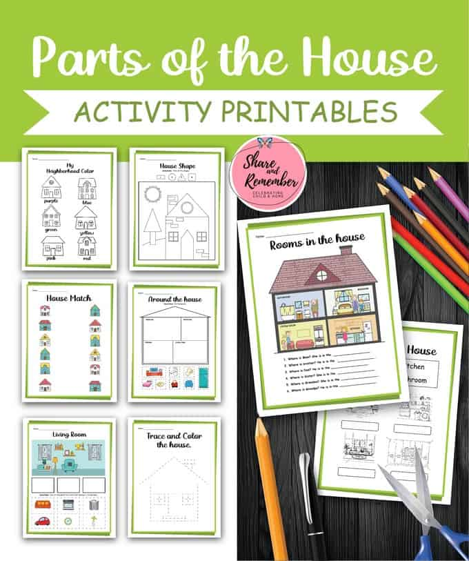 Parts of the House Printables