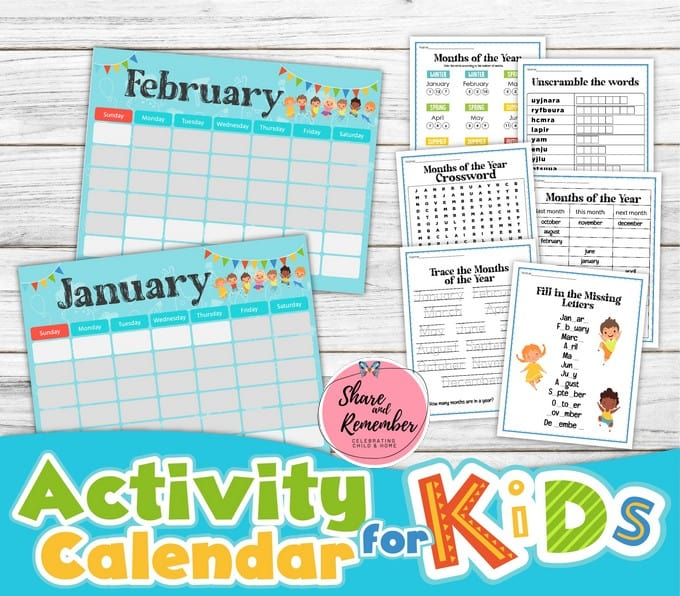Activity Calendar for Kids