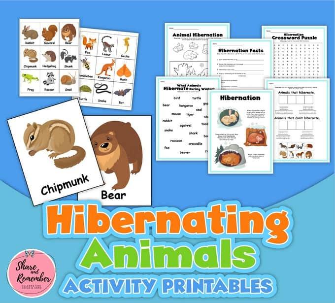 Hibernating Animals Activities Printables for kids